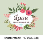 vector illustration of floral... | Shutterstock .eps vector #471033638