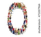 large group of people in number ... | Shutterstock .eps vector #471037964