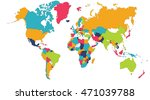world map  europe  asia  north... | Shutterstock . vector #471039788