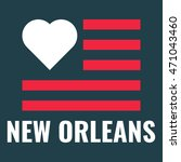 love city new orleans with usa... | Shutterstock .eps vector #471043460