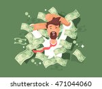 man in a pile of money | Shutterstock .eps vector #471044060