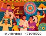 vector illustration of happy... | Shutterstock .eps vector #471045020