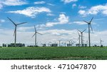 wind power plant on a sunny... | Shutterstock . vector #471047870
