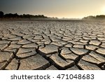 dry cracks in the land  serious ...   Shutterstock . vector #471048683