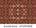 vector vintage border frame... | Shutterstock .eps vector #471054308