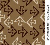 seamless pattern with arrows  ... | Shutterstock . vector #471056126