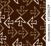 seamless pattern with arrows  ... | Shutterstock . vector #471056129