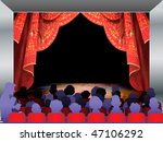 audience on red stage ... | Shutterstock . vector #47106292