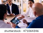 business meeting between four...   Shutterstock . vector #471064346