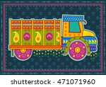 vector design of truck of india ... | Shutterstock .eps vector #471071960