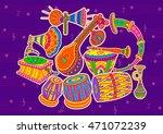 vector design of art and music... | Shutterstock .eps vector #471072239