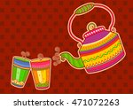 vector design of tea kettle and ... | Shutterstock .eps vector #471072263