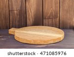 empty round cutting board on a... | Shutterstock . vector #471085976