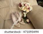 wedding details. bouquet and... | Shutterstock . vector #471093494