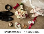 wedding accessories. bouquet... | Shutterstock . vector #471093503