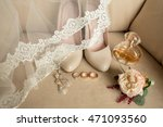 wedding details. bouquet and... | Shutterstock . vector #471093560