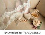 wedding details. bouquet and... | Shutterstock . vector #471093560