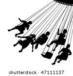 editable vector silhouette of... | Shutterstock .eps vector #47111137