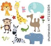 set of different african... | Shutterstock .eps vector #471113834