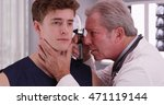 senior doctor checking sports... | Shutterstock . vector #471119144