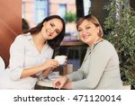 mom and daughter are in the... | Shutterstock . vector #471120014