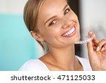 White Teeth. Closeup Portrait...