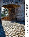 Small photo of Entrance door of Alcazar de Colon, Santo Domingo, Dominican Republic