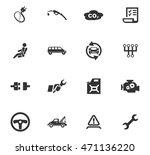 car service maintenance icons...   Shutterstock .eps vector #471136220