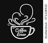 coffee doodle illustration with ... | Shutterstock .eps vector #471138410