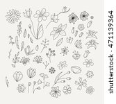 doodle collection with various... | Shutterstock . vector #471139364