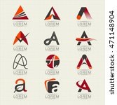 Logo Letter A Element And...