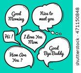 hand drawn speech bubble ... | Shutterstock .eps vector #471150848