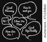 hand drawn speech bubble ...   Shutterstock .eps vector #471150860