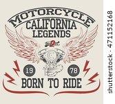 motorcycle racing typography... | Shutterstock .eps vector #471152168