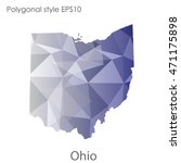 ohio state map in geometric... | Shutterstock .eps vector #471175898