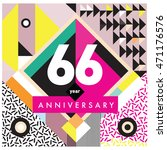 66th years greeting card... | Shutterstock .eps vector #471176576