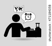 traveler silhouette suitcase...   Shutterstock .eps vector #471184058
