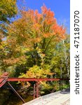 Small photo of Fall colors, autumn foliage in the Adirondacks, New York State