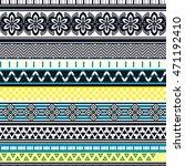 tribal seamless pattern.... | Shutterstock .eps vector #471192410