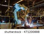 robot is welding assembly... | Shutterstock . vector #471200888