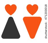 lovers icon. vector style is... | Shutterstock .eps vector #471203018