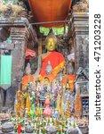 buddha status in wat phu or vat ... | Shutterstock . vector #471203228