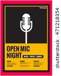 open mic night   flat style... | Shutterstock .eps vector #471218354