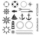 black sea marine vector elements | Shutterstock .eps vector #471225668