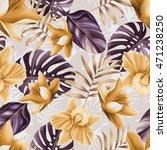 seamless tropical flower  plant ... | Shutterstock . vector #471238250