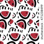hand drawn stylized watermelon...   Shutterstock .eps vector #471238499