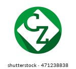 green circle initial typography ... | Shutterstock .eps vector #471238838
