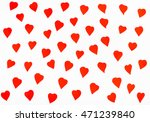 many red hearts cut out from... | Shutterstock . vector #471239840