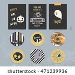 happy halloween poster  card ... | Shutterstock .eps vector #471239936