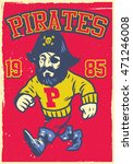 vintage mascot of pirate